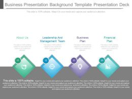New Business Presentation Background Template Presentation Deck