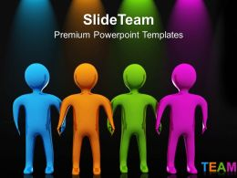 New Business Strategy Powerpoint Templates Colorful Team Teamwork Ppt Process