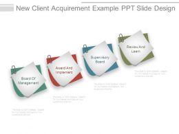 New Client Acquirement Example Ppt Slide Design