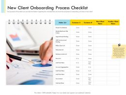 New Client Onboarding Process Checklist Calendar List Ppt Slides