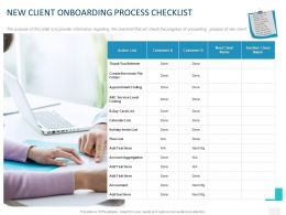 New Client Onboarding Process Checklist Ppt Powerpoint Presentation Styles Information