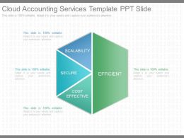 New Cloud Accounting Services Template Ppt Slide