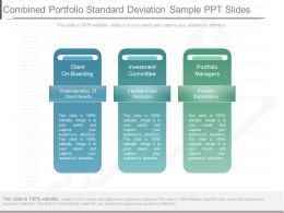 New Combined Portfolio Standard Deviation Sample Ppt Slides