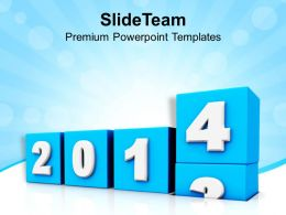 New Coming Year 2014 PowerPoint Templates PPT Backgrounds For Slides 1113