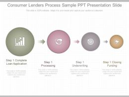 New Consumer Lenders Process Sample Ppt Presentation Slide