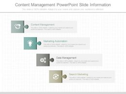 New Content Management Powerpoint Slide Information