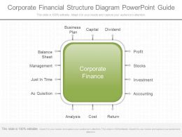 New Corporate Financial Structure Diagram Powerpoint Guide