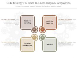 New Crm Strategy For Small Business Diagram Infographics