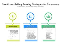 New Cross Selling Banking Strategies For Consumers
