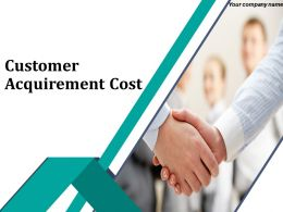 New Customer Acquirement Cost Powerpoint Presentation Slides
