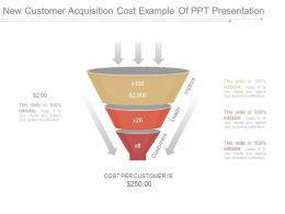 New Customer Acquisition Cost Example Of Ppt Presentation
