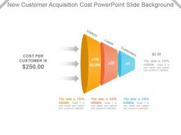 New Customer Acquisition Cost Powerpoint Slide Background