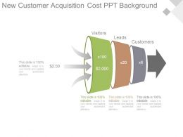 New Customer Acquisition Cost Ppt Background