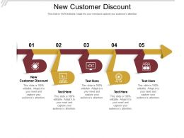 New Customer Discount Ppt Powerpoint Presentation Slides Brochure Cpb