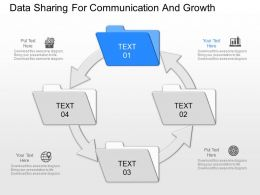new Data Sharing For Communication And Growth Powerpoint Template