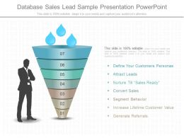 New Database Sales Lead Sample Presentation Powerpoint