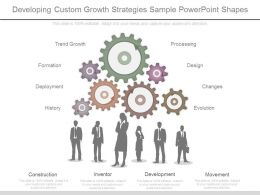 New Developing Custom Growth Strategies Sample Powerpoint Shapes