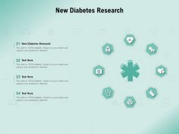 New Diabetes Research Ppt Powerpoint Presentation Icon