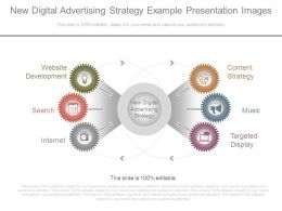 New Digital Advertising Strategy Example Presentation Images