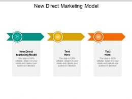 New Direct Marketing Model Ppt Powerpoint Presentation Gallery Cpb