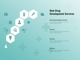 New Drug Development Services Ppt Powerpoint Presentation Ideas Tips