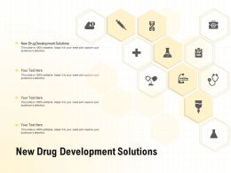 New Drug Development Solutions Ppt Powerpoint Presentation Summary Slide Download