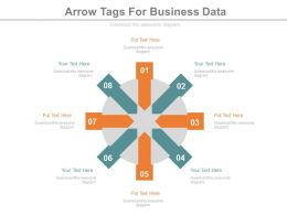 new Eight Staged Arrow Tags For Business Data Flat Powerpoint Design