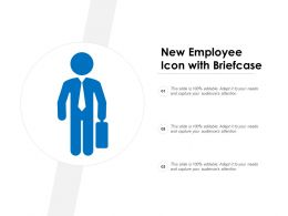 New Employee Icon With Briefcase
