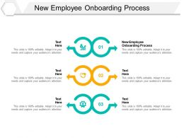 New Employee Onboarding Process Ppt Powerpoint Presentation Infographic Template Cpb