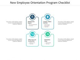 New Employee Orientation Program Checklist