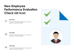 New Employee Performance Evaluation Check List Icon
