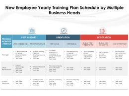New Employee Yearly Training Plan Schedule By Multiple Business Heads