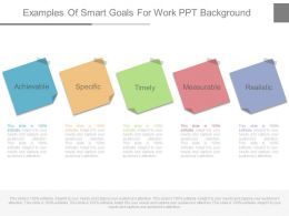 New Examples Of Smart Goals For Work Ppt Background