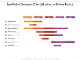 New Feature Development 5 Yearly Roadmap For Software Product