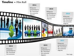 New Filmstrip Timeline Roadmap Diagram 0314