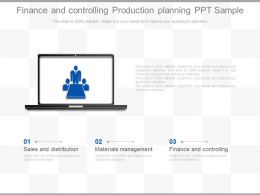 New Finance And Controlling Production Planning Ppt Sample