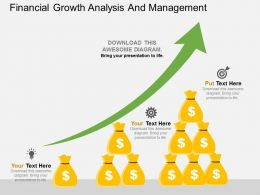 new Financial Growth Analysis And Management Flat Powerpoint Design