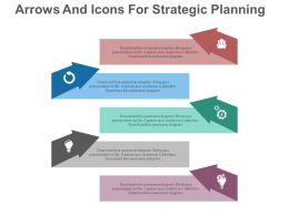 new Five Arrows And Icons For Strategic Planning Samples Flat Powerpoint Design