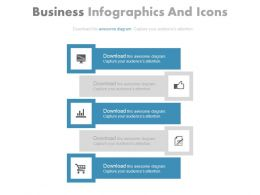 new Five Staged Banner Infographics And Icons Flat Powerpoint Design