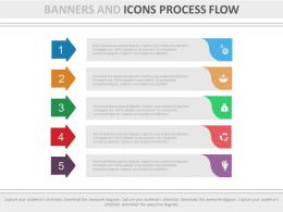 new Five Staged Banners And Icons For Process Flow Flat Powerpoint Design