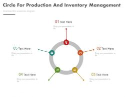 new_five_staged_circle_for_production_and_inventory_management_flat_powerpoint_design_Slide01
