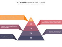 new Five Staged Pyramid Process Tags Flat Powerpoint Design