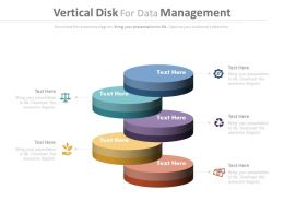 new Five Staged Vertical Disk For Data Management Flat Powerpoint Design