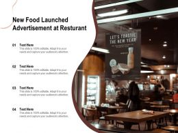 New Food Launched Advertisement At Resturant