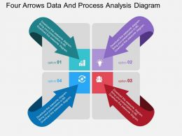 new Four Arrows Data And Process Analysis Diagram Flat Powerpoint Design