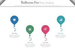 new Four Balloons For Data Analysis Flat Powerpoint Design