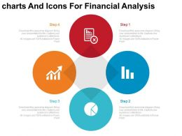 new Four Charts And Icons For Financial Analysis Flat Powerpoint Design