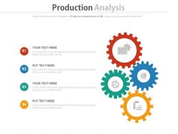new_four_gears_for_production_analysis_flat_powerpoint_design_Slide01