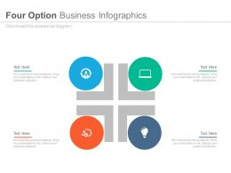 new Four Staged Business Option Infographics Flat Powerpoint Design