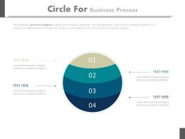 new Four Staged Circles For Business Process Flat Powerpoint Design